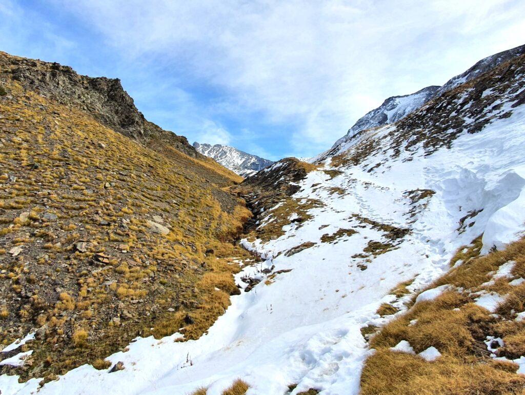Dieser Weg in den spanischen Pyrenäen folgt der Falllinie neben einem Wasserlauf