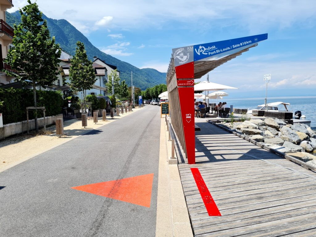 Startpunkt der Grande Traversée des Alpes (GTA) am Genfer See
