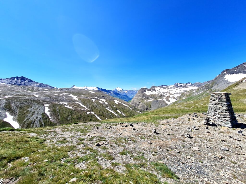 Grande Traversée des Alpes Teil 4: Panorama des Vanoise-Massivs vom Col de l'Iseran, dem höchsten Punkt der GTA