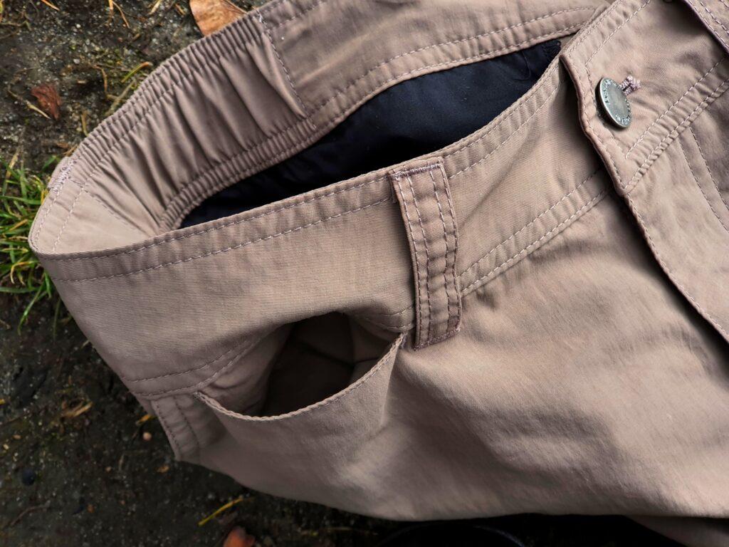 Geheimtasche der Jack Wolfskin Canyon Zip Off Pants