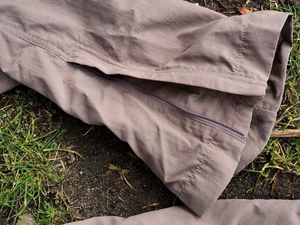 T-Zipper am Beinabschluss der Jack Wolfskin Canyon Zip Off Pants