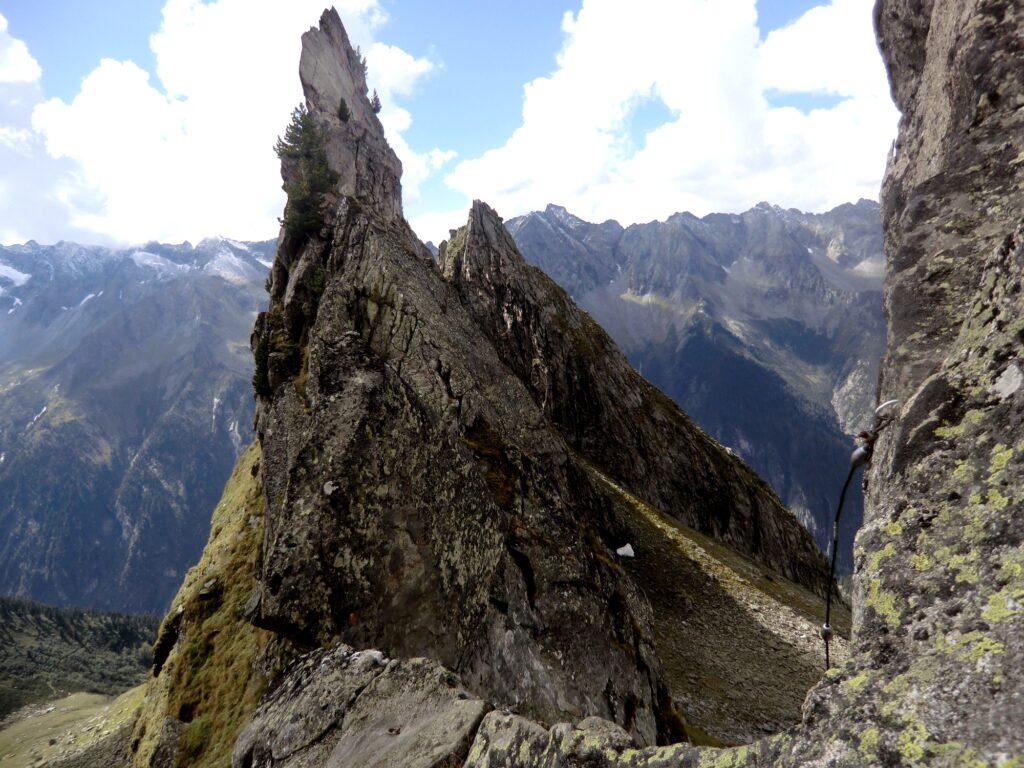 Ende von einem leichten Klettersteigs