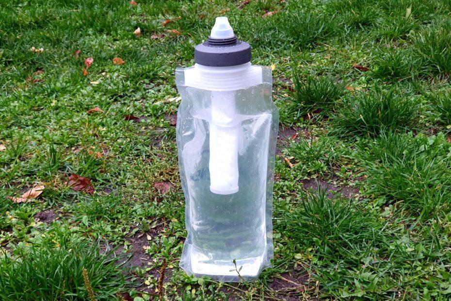 Das LifeStraw Universal Filterset im Einsatz mit meiner Nalgene Faltflasche
