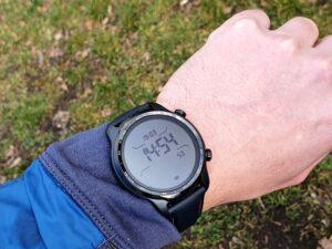 Stromsparendes Display der Mobvoi Ticwatch Pro 3 GPS