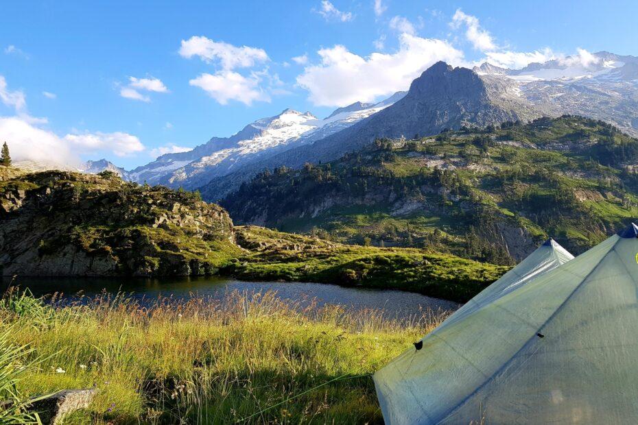 Mein erstes Nachtlager am oberen Villamuerta-See