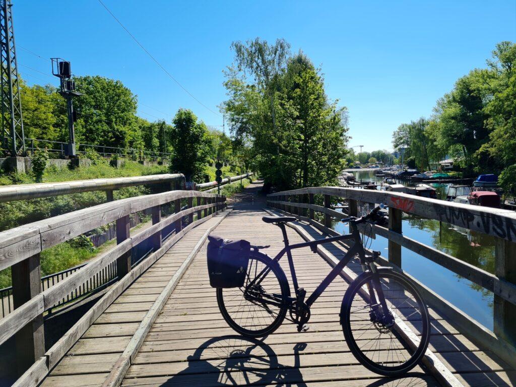 Schleichweg auf die Insel Untere Planitz in Potsdam