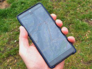 Outdooractive-Kartenansicht auf dem Samsung Galaxy S20 FE Smartphone