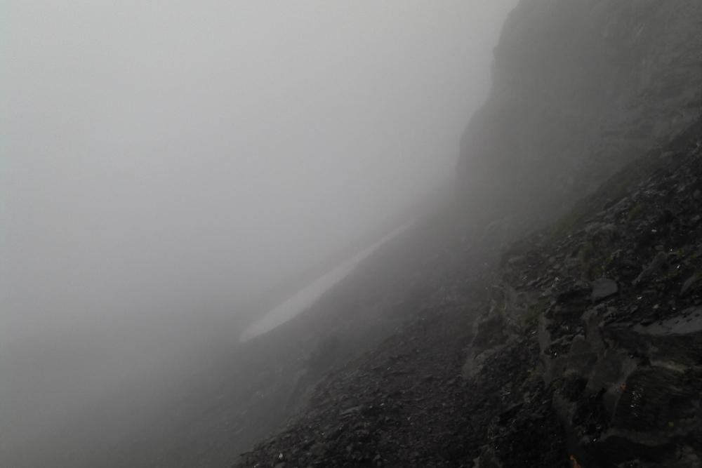 Abenteuer-Charakter: Schlechtes Wetter am Berg