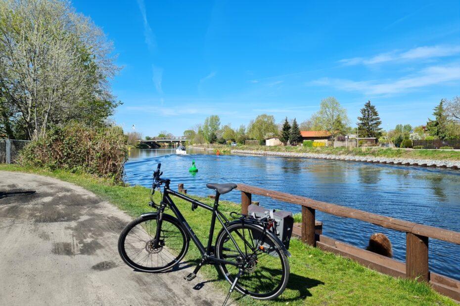 Auf der Teltowkanal-Radtour in Grünau