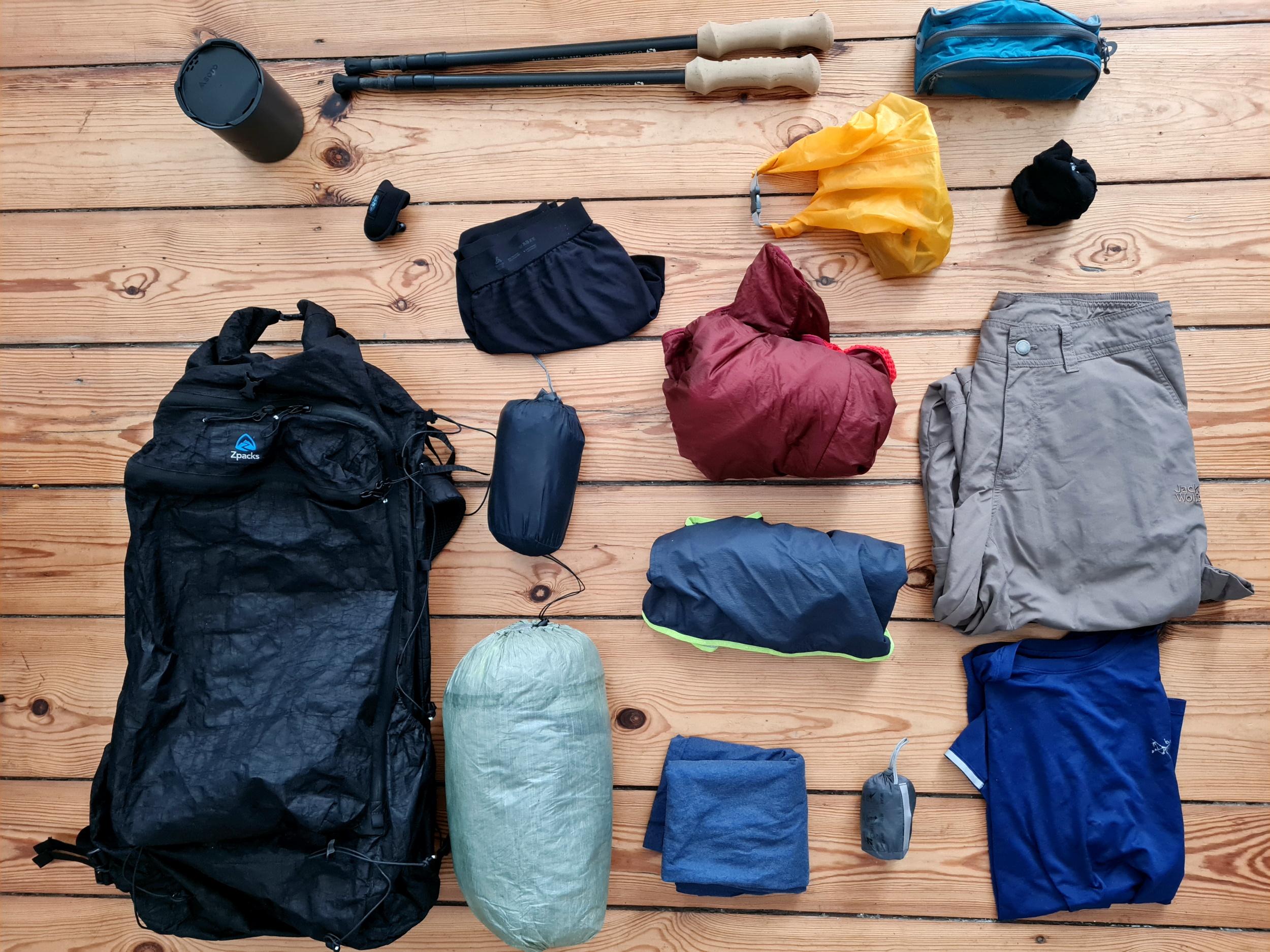 Die Ultraleicht-Trekking-Packliste 2021 der Gipfelwelt