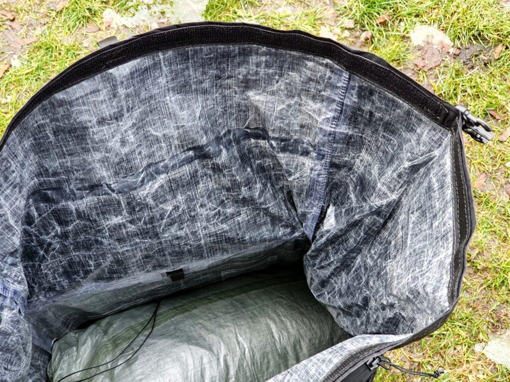 Hauptfach des Zpacks Arc Zip 57L Backpack